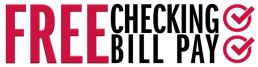 free checking free bill pay logo