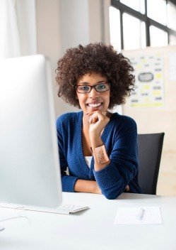 african american business lady at desk2